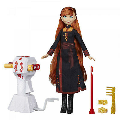 Disney Frozen 2 Sister Styles Long Hair Anna Fashion Doll With Automatic Hair