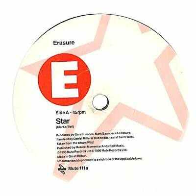 "Erasure - Star - 7"" Vinyl Record Single"