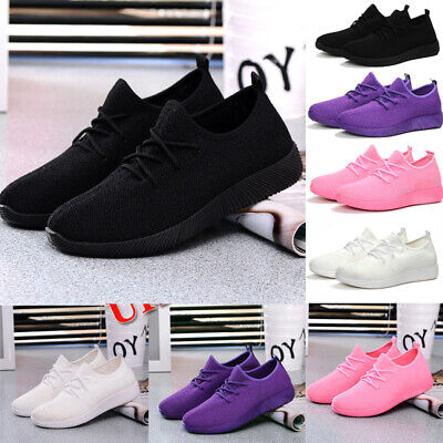 Womens Ladies Sneaker Breathable Trainers Gym Sport Fitness Running Shoes Size