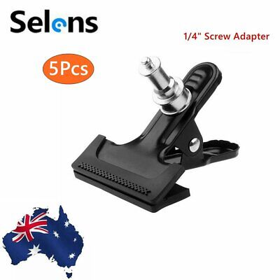 """5Pcs 1/4"""" Screw for Photography Metal Strong Clip Clamp Holder Mount AU STOCK"""
