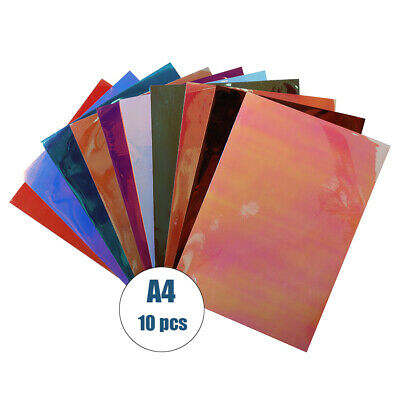 10pcs Holographic Craft VinylSheets/Pack for Cutting Vinyl Craft Cutters