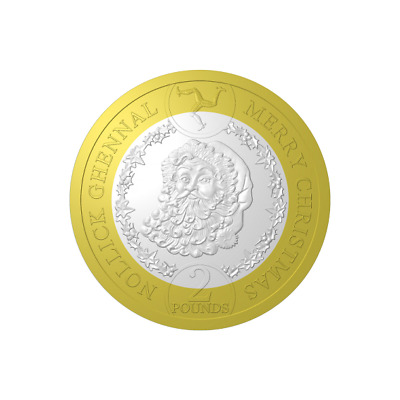 Isle Of Man- 2019 Father Christmas £2 Coin