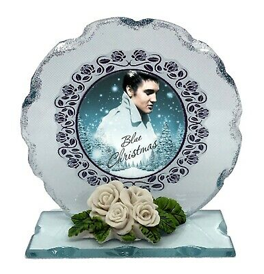 Elvis  Blue Christmas cut glass ltd edition gift  perfect keepsake