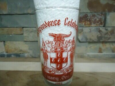 Vintage 1962 Jamaica Independence-Out Of Many One People-Collectors Glass