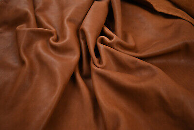 Medium Brown Veg Tanned Upholstery leather pieces - Full grain | VARIOUS SIZES