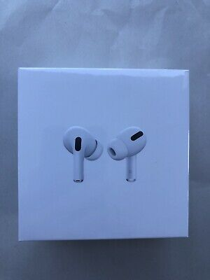 New Apple Airpods Pro Noise Cancelling White Wireless Earbuds 2019 Mwp22Am/A