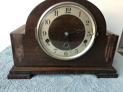 Vintage Clock - Wooden Mantel Chiming Clock 🕰 For Spares Or Repair - HALLER