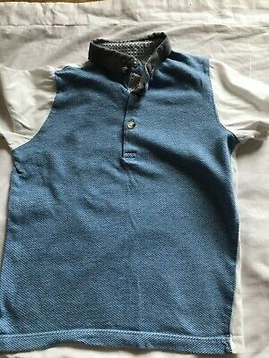 Boys age 5 polo top by next blue and white smart