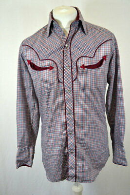 Vintage Kenny Rogers Western Check Shirt With Authentic Detailing