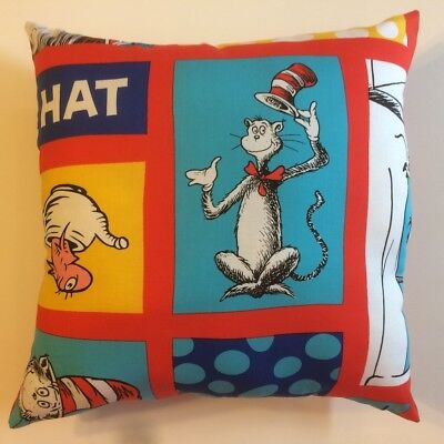 New Dr Seuss Cat In The Hat Thing 1 Children's Books Complete 15X15 Throw Pillow