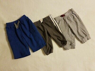 3pc 0-3 months Infant Baby Boy Girl Pants Bottoms Trousers Striped Blue Set Lot