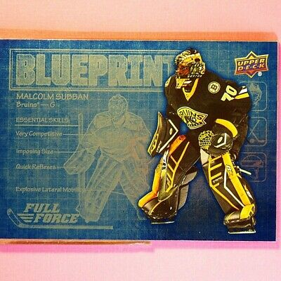 MALCOLM SUBBAN  2015-16  ROOKIE  FULL FORCE BLUEPRINT  #BPMS   Boston Bruins