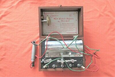 Antique Thomas Hall's New French Battery Dry Cell Medical Quack Vibrator Device