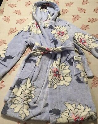 Girls Joules Dressing Gown Blue Age 9-10 Years