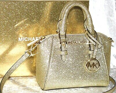MICHAEL KORS TASCHE Ciara Xs Mini Xbody Crossbody Pale Gold