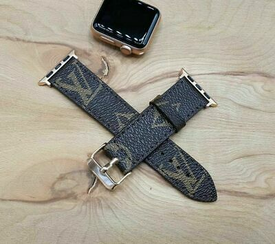 Handmade Louis Vuitton Apple watch band Series 5,4,3,2