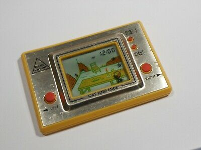 GAME WIZZARD CAT AND MICE TIME & FUN  1981 LCD CARD GAME RARE Retro Vintage G W