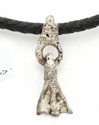 ANCIENT VIKING SORCERER'S AMULET NECKLACE  10th-11th century AD.