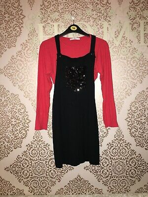 M & S Girls Christmas Dress Outfit Age 11-12 VGC trendy Next P&p