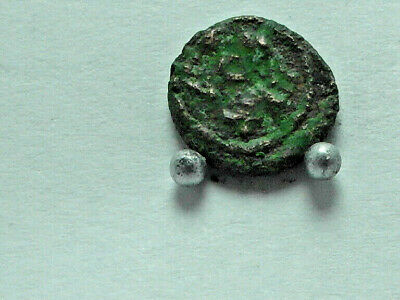 Lot of two Vandals Imitation of late Roman coins. AE nummus,8mm.Carthage.Rare