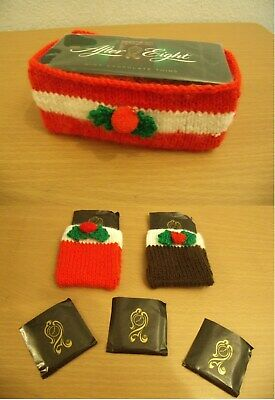 KNITTING PATTERN: Christmas After Eight Chocolates box cover & chocolates covers