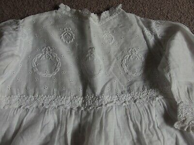 antique embroidered baby dress