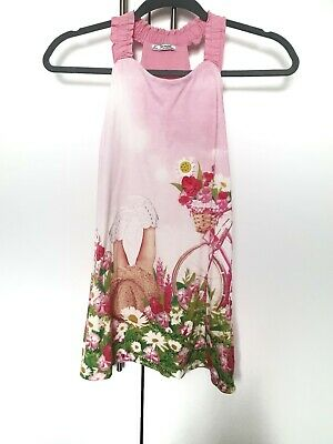 Mayoral Girls Pink Flower Dress Age 9 Years 134cm