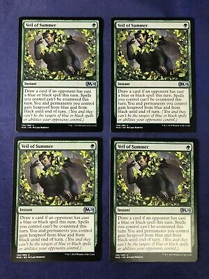 MTG Magic the Gathering Veil of Summer Core Set 2020 x4