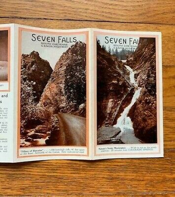 Antique Travel Brochure SEVEN FALLS COLORADO Early 1900s South Cheyenne Booklet