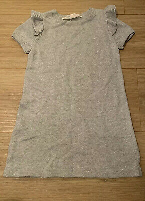 Girls Silver Glittery Knitted Dress - H&M Age 2-4