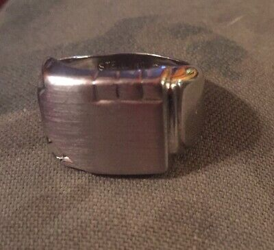 Vintage Sterling Art Deco Signet Ring 12.5 Grms Size 8 Exceptional