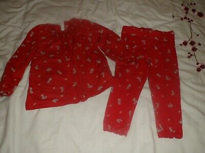 Girls red matching outfit from Next 18-24 months