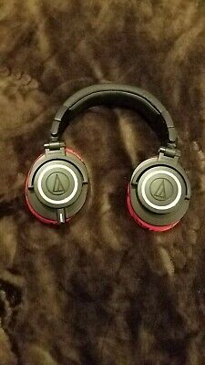 Audio-Technica ATH-M50x Over the Ear Headphones - Black Comes with extra Earcups
