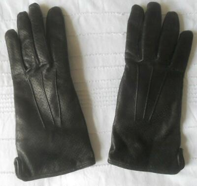 Pr Milana Made In Italy Super Soft Supple Black Leather Gloves Angora Lining 7