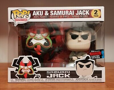 Samurai Jack and Aku Pop Vinyl 2 pack NYCC 2019 Funko Exclusive Limited Edition