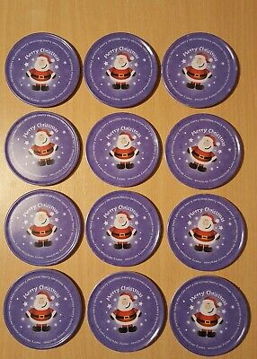 Set Of 12 Festive (Merry Christmas) Coasters.