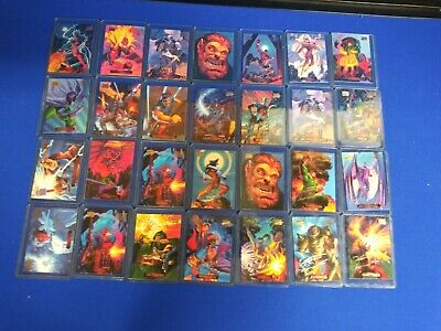 1994 marvel masterpieces gold holofoil Signature Series Lot Of 28
