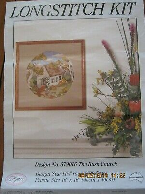 The Bush Church Longstitch Embroidery Kit Wools Canvas Instructions Colour Guide