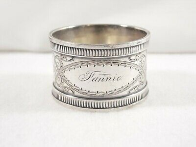 """NAPKIN RING ~ STERLING BRIGHT-CUT MARKED """"S 360"""" (Ca.1885) ~ $0.99 NO RESERVE"""