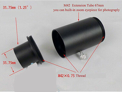 """1.25"""" T / T2 Telescope Camera Adapter for Eyepiece Projection Photography"""