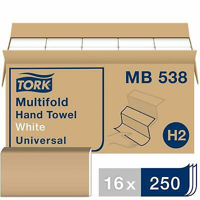 Tork Universal Multifold Paper Towel H2 3-Panel Hand Towel MB538 100% Recycle...
