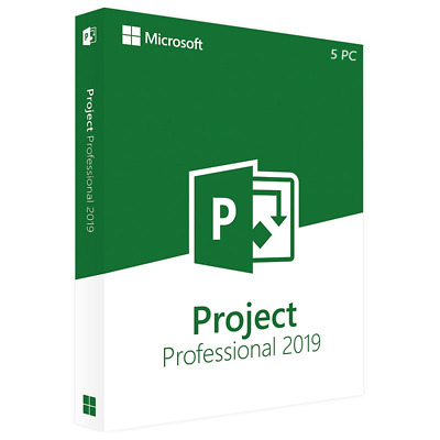 Microsoft Project Professional 2019 - 5 Pc (Retail Sealed)
