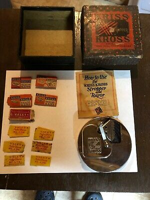 Vintage Kriss Kross Stropper Razor Blade Sharpener With the Box - Blades