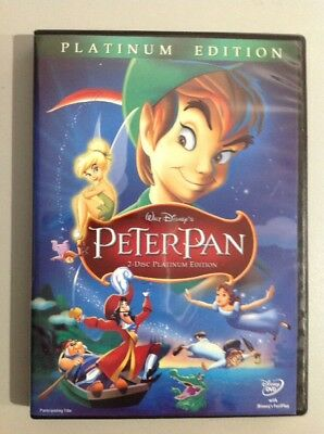 PETER PAN MOVIE PLATINUM EDITION ( 2 DVD Disc set ). A MUST OWN.