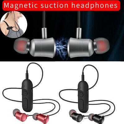 CA Magnet Wireless In-Ear Sports Clip Earphones Headsets Bluetooth Headphones
