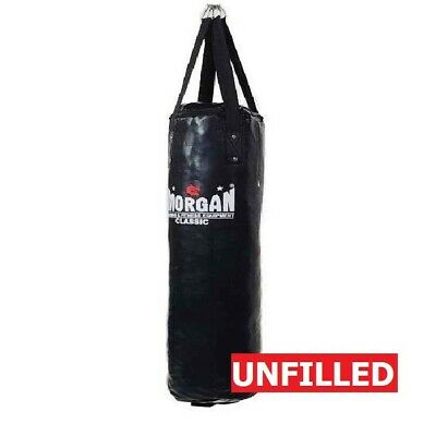 MORGAN Skinny Punch Bag Muay Thai Boxing MMA [Unfilled Black]