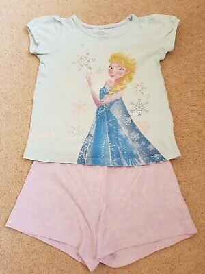 Girls M&S Frozen Elsa Pyjamas Age 5-6 Years