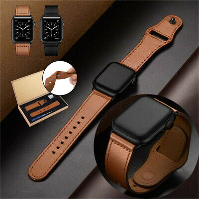 Genuine Leather Apple Watch Band Strap for iWatch Series 1/2/3/4/5 38/42/40/44mm