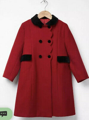 Trotters Heritage Red Scalloped Edge Coat 5 Smart Traditional SOLD OUT!