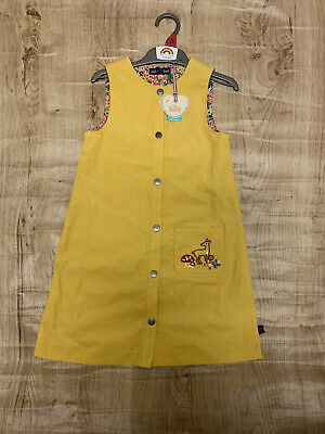 Little Bird By Jools Oliver Mustard Cord Dress Age 6-7 Years NEW STOCK